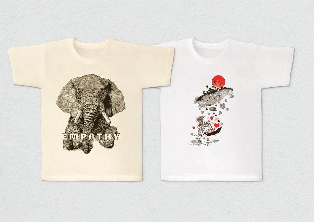 """Zwei Shirts """"Herzenssache"""" und """"afrikanischer Elefant/EMPATHY"""" von """"Borg"""" – Verkaufsprofil von Willner Design"""