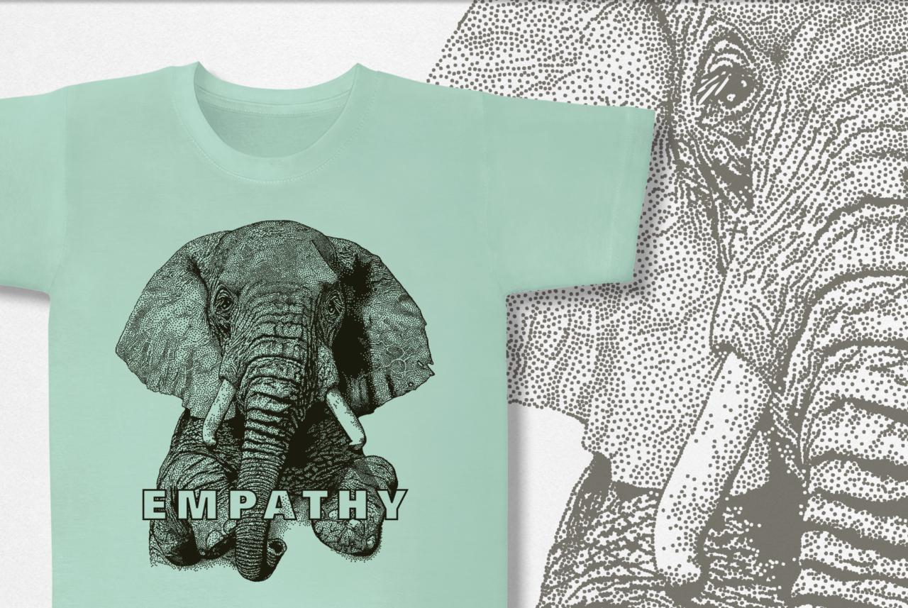 Empathy shirt design elephant
