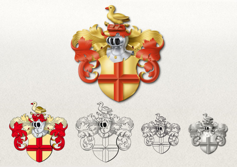 Wappenerstellung (nach Vorlagen von Siebmacher)