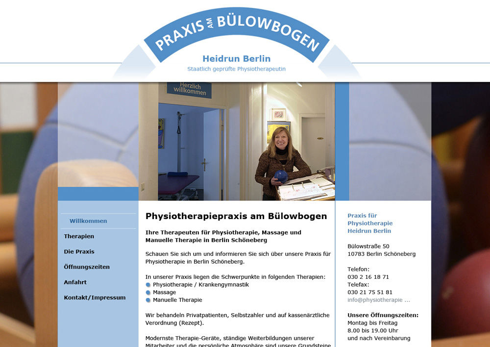 Agenturauftrag: www.physiotherapiepraxis-berlin.de