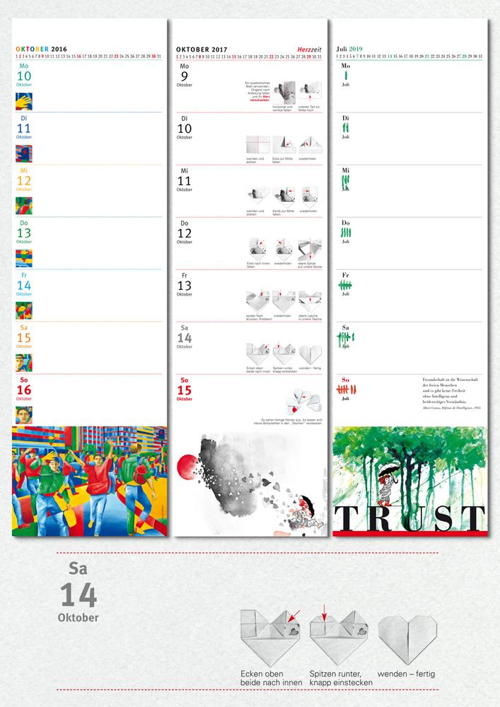 Kalenderblätter Gestaltung