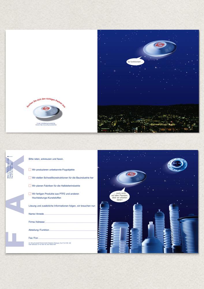 Elring Mailing mit eigener Verpackung und Frisbee