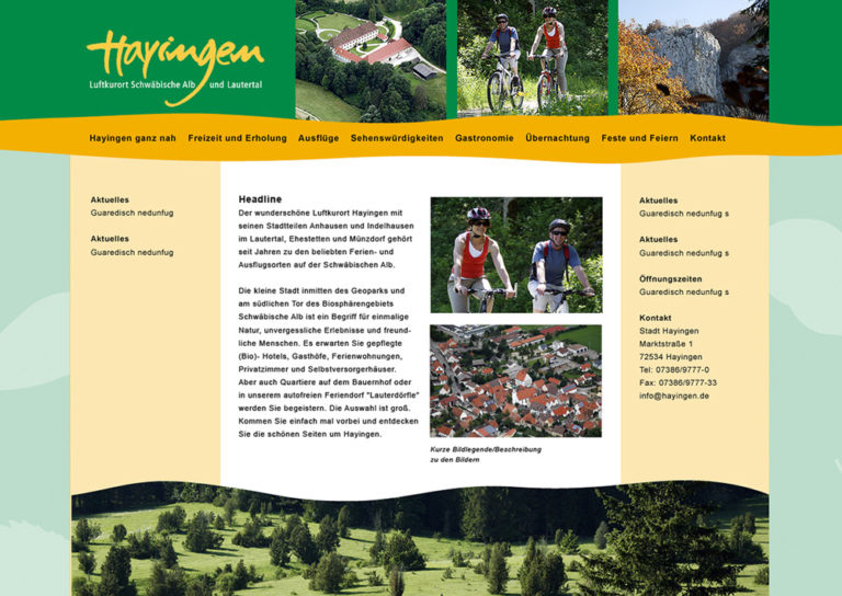 Hayingen Homepage Gestaltung