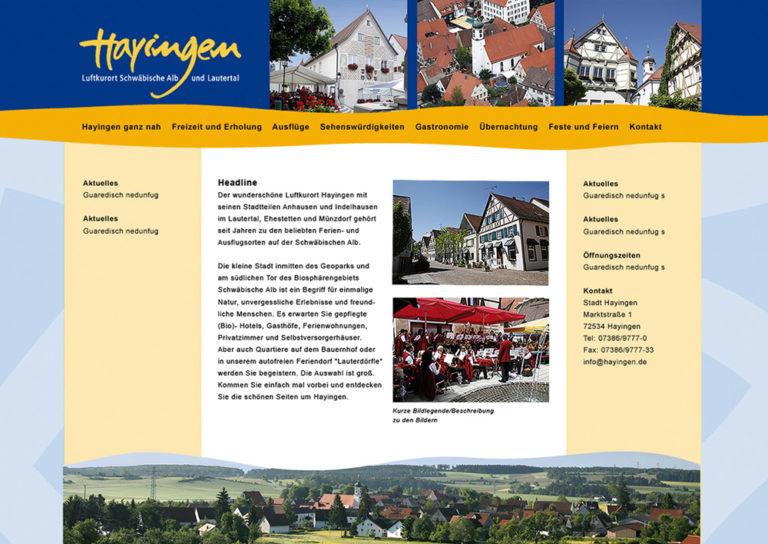 Homepage Gestaltung, ca. 2019 geändert