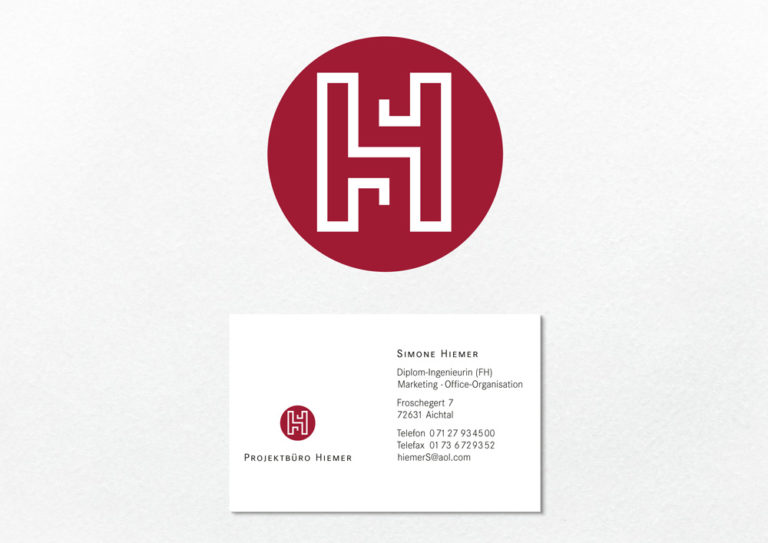 Signetgestaltung und Visitenkarte