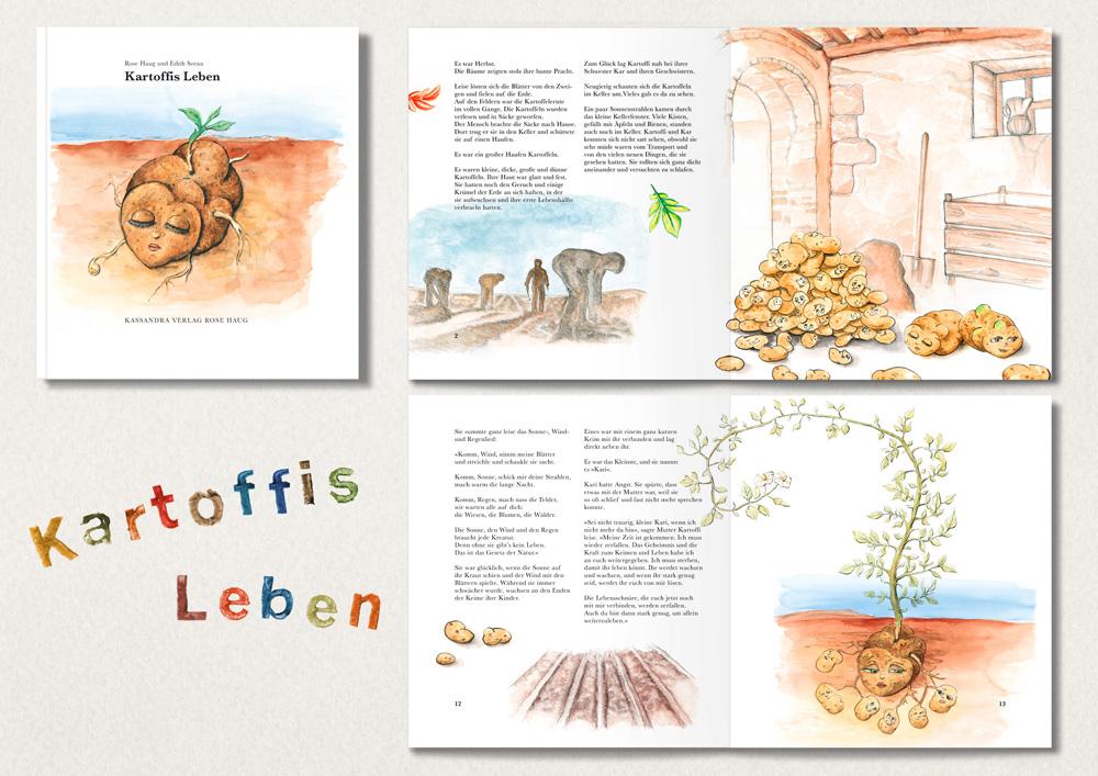 Illustrationen nach Wunsch für den Kassandra Verlag Rose Haug
