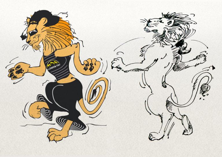 Illustrationen für den Drei-Löwen-Takt