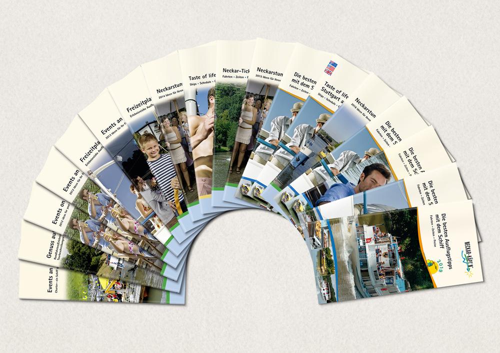 10 Jahre Fahrpläne kleines Format, (22 Jahre Fahrpläne für die Neckarschifffahrt)