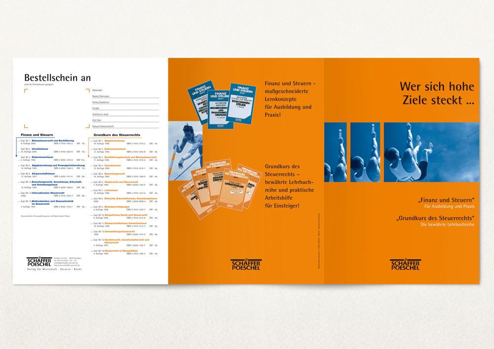 Flyer für einen Verlag
