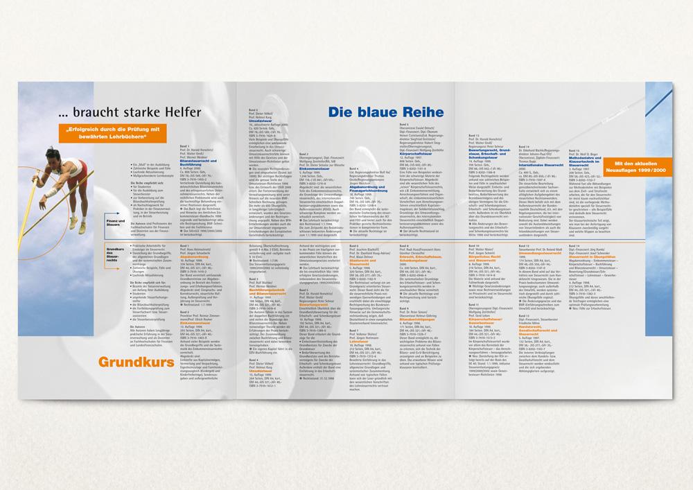 Flyer für einen Verlag, Innenseiten