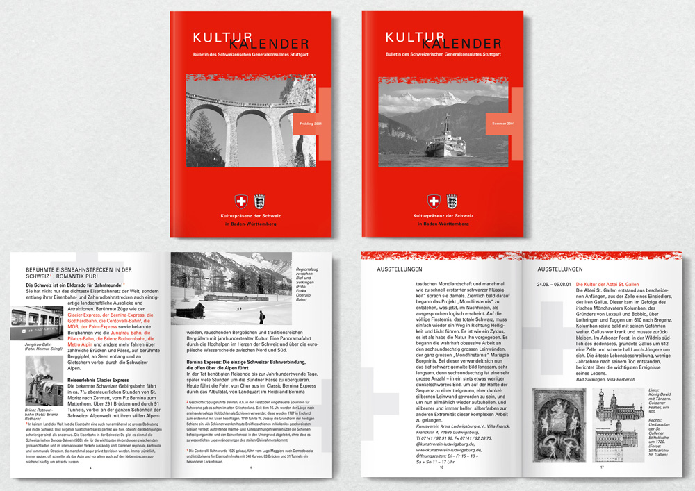 Kulturkalender Schweizer Generalkonsulat, Agenturauftrag