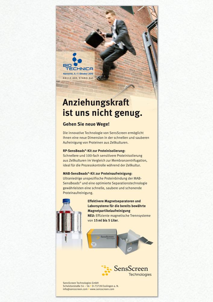 Anzeige, Gestaltung, Text