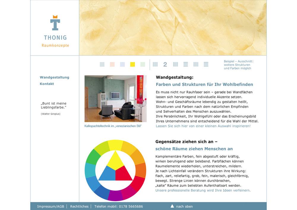 Webseitengestaltung thonig-raumkonzepte.de