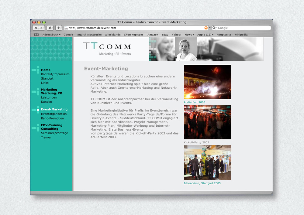 Homepagegestaltung